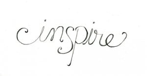 art word cursive inspire simple