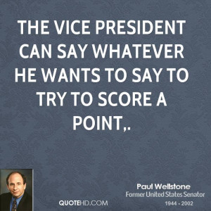 The vice president can say whatever he wants to say to try to score a ...