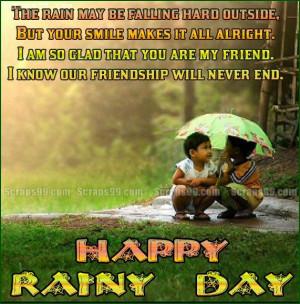 Rainy Facebook Status