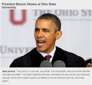 President Barack Obama Inspirational Quote.