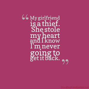 My Girlfriend is a Thief