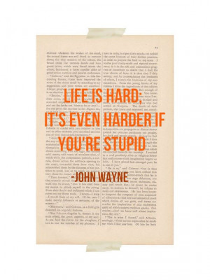 motivational print life is hard john wayne funny inspirational quote ...