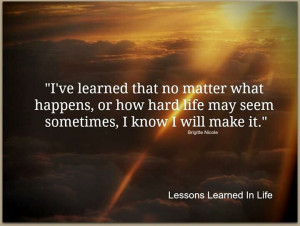 ve learned...