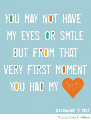 Adoption Quotes For Birth Mothers you may not have my eyes or