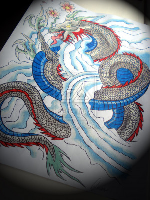 First chinese dragon tattoo by BeautyLoveDivine
