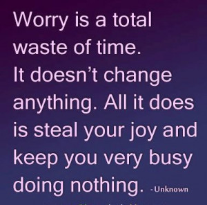 quotes by worry Savvy Quote worry is a total waste of time