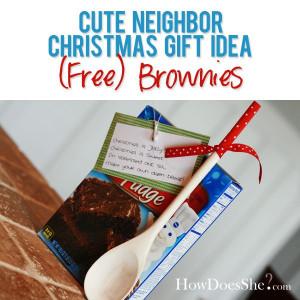 29 Neighbor Christmas Gift Ideas – (Free)Brownies