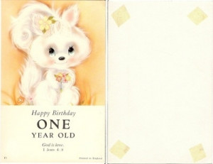 HAPPY BIRTHDAY One 1 Year Old, Christian, God is Love, Bible Quote ...