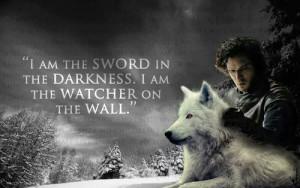 jon snow quote - game-of-thrones Fan Art