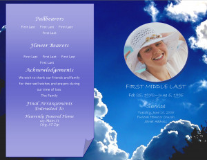 LifecyclePrints ~ Celebration and Funeral Program Templates