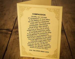 "Handmade Cards of ""Compassion"", ""To lerance"","" Loving ..."