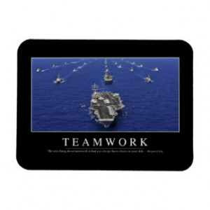 Teamwork: Inspirational Quote Rectangle Magnet
