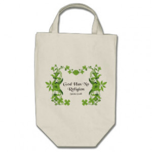 Gandhi Quote - God Has No Religion Tote Bags