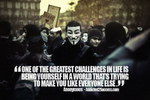 anonymous #quote being yourself