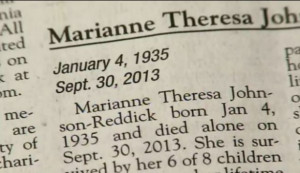 The obituary for Marianne Theresa Johnson-Reddick was published in the ...