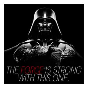 Darth Vader Quote Canvas Art Print: