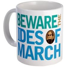 Ides Of March Shakespeare Quote Mug for
