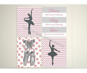 ... dance quotes, nursery patterns, girls room art, nursery art, art print
