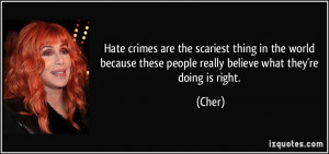 Hate crimes are the scariest thing in the world because these people ...