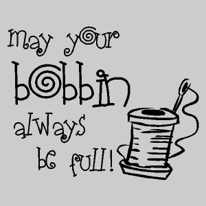 may your bobbin sewing quotes words lettering decals