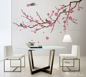 Image of Cherry Blossom decal sticker Tree Branch 3 color ( LARGE ...