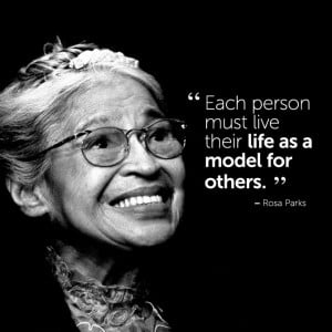inspirational #quote by Rosa Parks