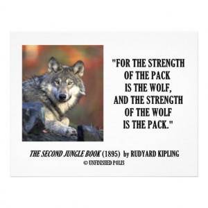Rudyard Kipling Strength Of the Pack Wolf Quote Custom Flyer