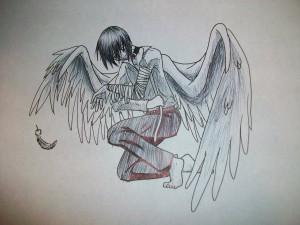 Angel With Broken Wings Tattoo