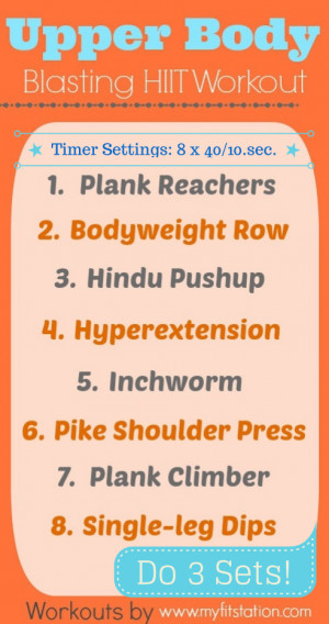 HIIT Upper Body Workout