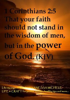 Bible Verses Kjv About Faith 1 corinthians 2:5 (kjv) power