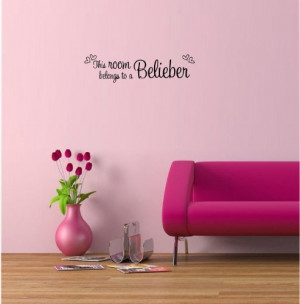 ... room belongs to a Belieber cute music wall art wall sayings quotes
