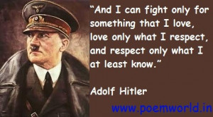 Adolf Hitler Motivational Quotes in English