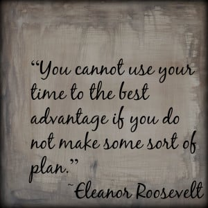 Make A Plan Do you make plans?