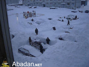 Funny Snow Storm   جوک برف سنگین