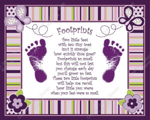 Createa cherished keepsake of your baby's footprints. This print can ...