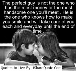 The perfect guy is not the one…