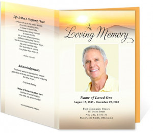 Funeral Memorial Funeral Programs Summit Letter Single Fold Funeral ...