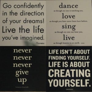 ... the life youve imaginednener never never give up inspirational quote