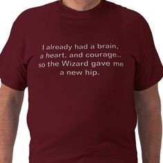 PT shirt for patient with THR Awesome for Hip Replacement Patient's!