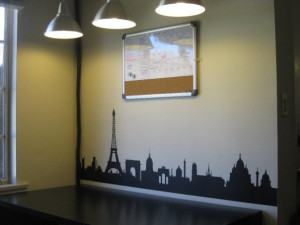 Parisian Skyline Wall Art Mural