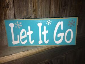 Let It Go wood sign Disney Frozen movie by BuzzingBeesCrafts, $7.00