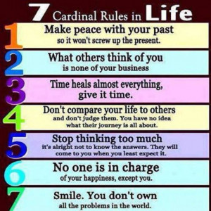 the 7 cardinal rules in life