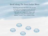 Stroll along the Sand Dollar Shore with your feet in the sand, waves ...