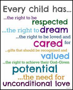 crayonfreckles: Every Child Has.... printable #crayonfreckles More