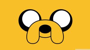 ... este bonito fondo de Jake de Adventure Time. Venga, date una alegría