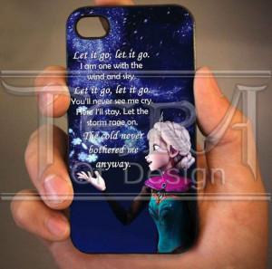 Elsa Frozen Disney Quote design for iPhone 4/4s by TeraOfDesign, $14 ...