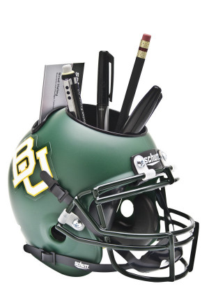 Reviewing: Baylor Bears Alternate GREEN MATTE Mini Helmet Desk Caddy ...