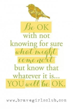 You'll be ok.