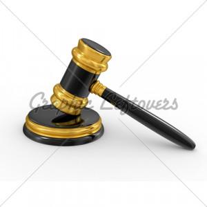 Judges Gavel Gold
