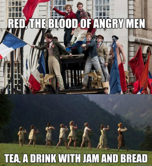 Red, the blood of angry men tea, a drink with jam and bread Musical ...